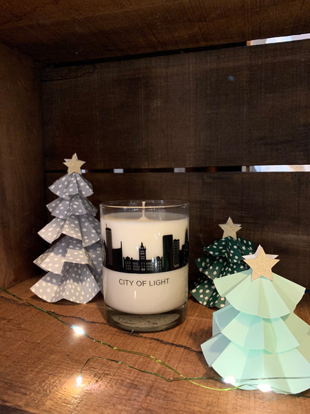 City of Light Glass, 10oz Soy Candle