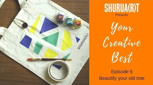 YOUR CREATIVE BEST: DIY to beautify your boring TOTE