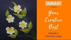YOUR CREATIVE BEST: Making frangipanis using flat brush and Fabrica acrylics