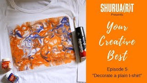 "YOUR CREATIVE BEST: ""Decorate a plain t-shirt"""