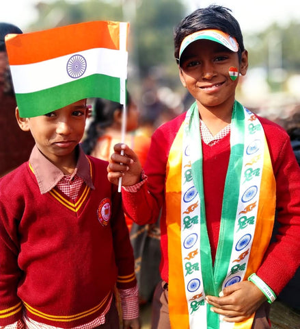 Republic day at Govt primary School