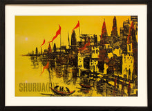 Load image into Gallery viewer, Abstract painting of Ghats of Varanasi