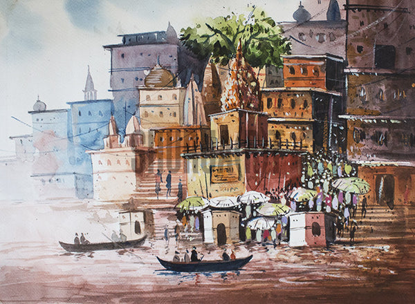 A beautiful painting of Banaras Ghats