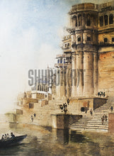 Load image into Gallery viewer, A Painting of Beautiful Ghats in Varanasi