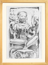 Load image into Gallery viewer, Painting of an Ancient Indian Sculpture