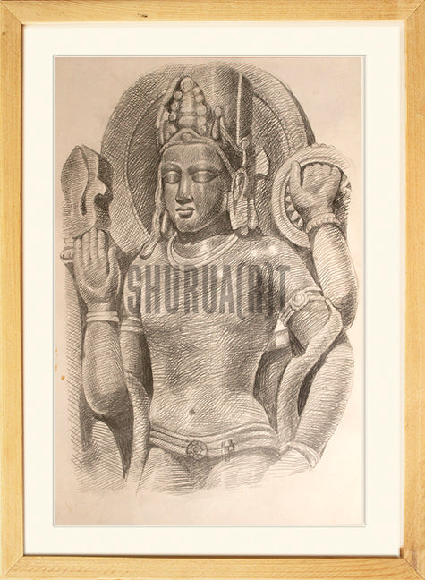 Painting of an Ancient Indian Sculpture