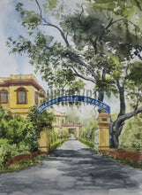 Load image into Gallery viewer, Painting of iconic Bharat Kala Bhavan in Banaras Hindu University