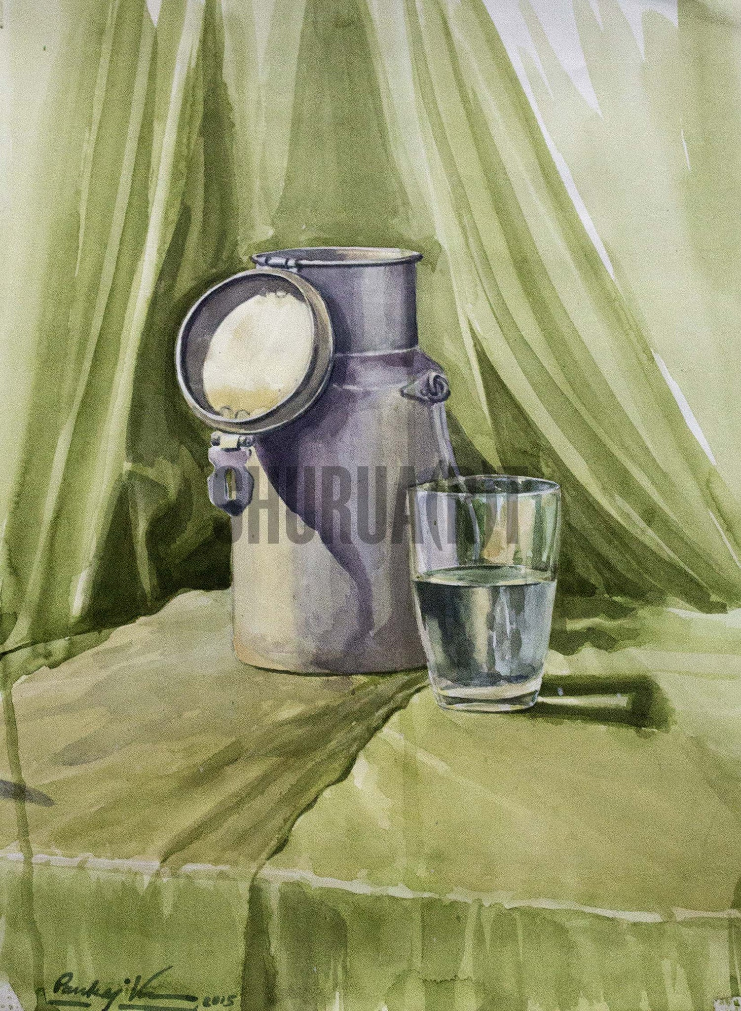 Still Life Painting of a Milk Jug