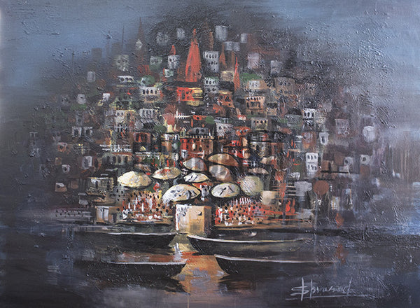 Original Painting of Varanasi Ghats