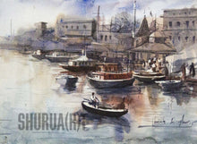 Load image into Gallery viewer, A beautiful painting of a ghat in Banaras