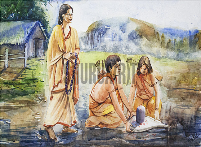 A Painting based on Ramayana