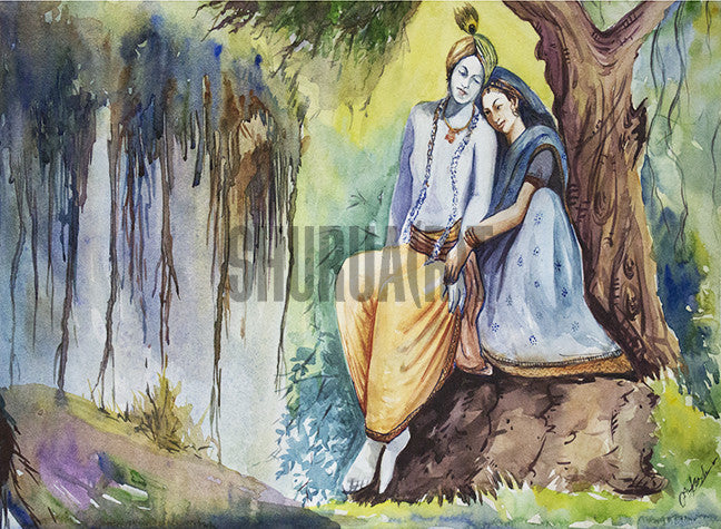 A Painting of Radha-Krishna