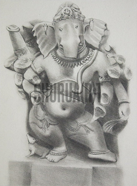 God Ganesha Statue at Bharat Kala Bhavan