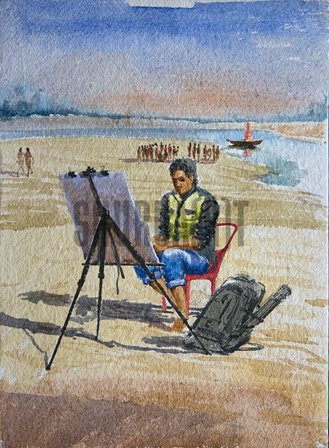 An Artist on the Shore