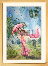 Load image into Gallery viewer, A Lady in the Rain