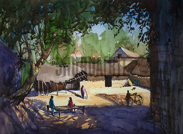 An Indian Village Scene