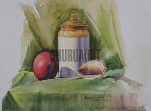 Still Life painting of a Jar
