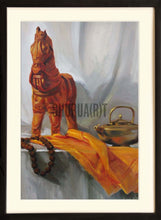 Load image into Gallery viewer, Still Life painting of belongings of a Sadhu