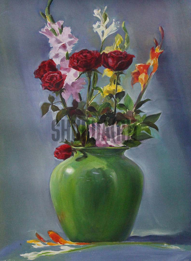& Still Life painting of Flower Vase \u2013 SHURUA(R)T