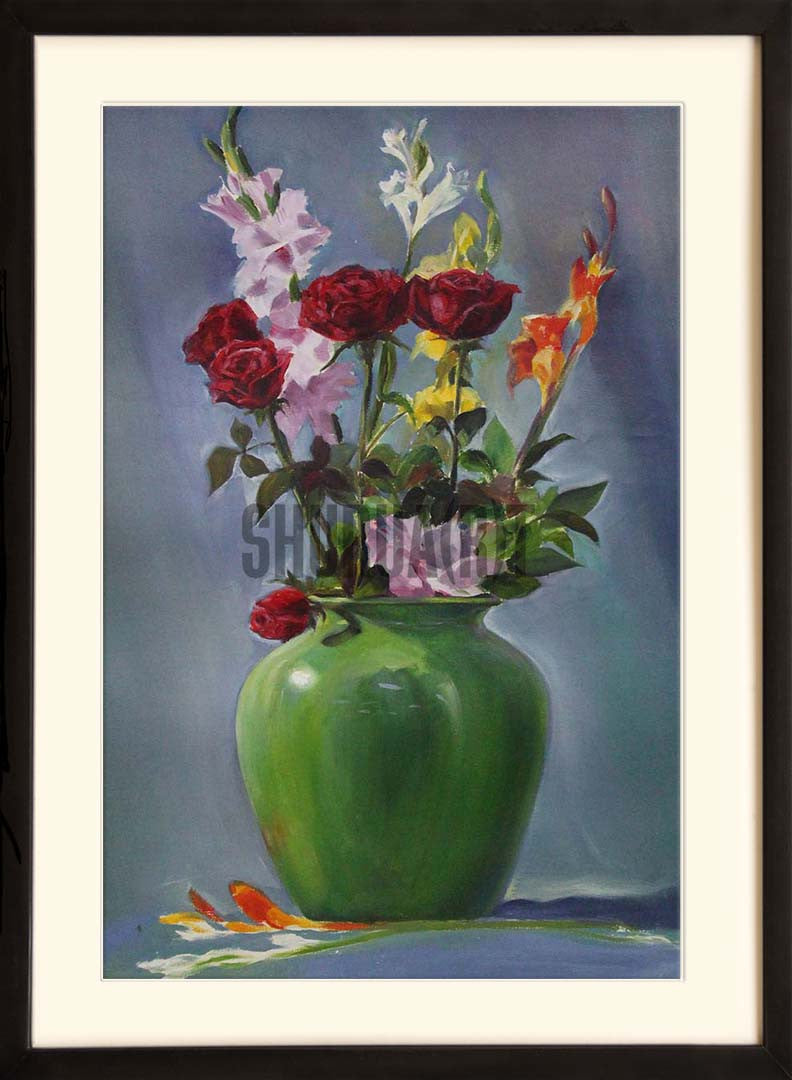 Still Life painting of Flower Vase