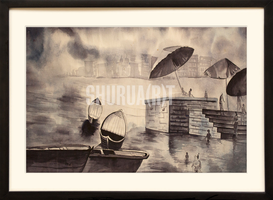 Painting of Benares Ghats