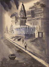 Load image into Gallery viewer, Painting of Benares Ghats