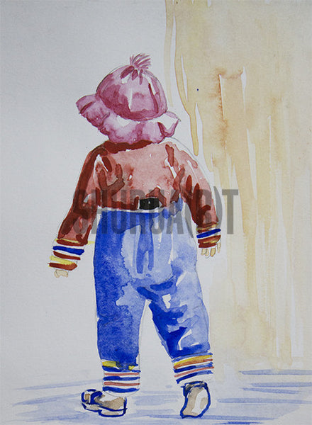 A Kid Wearing Winter Clothes