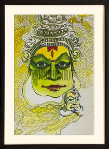 Painting of a Kathakali Dancer