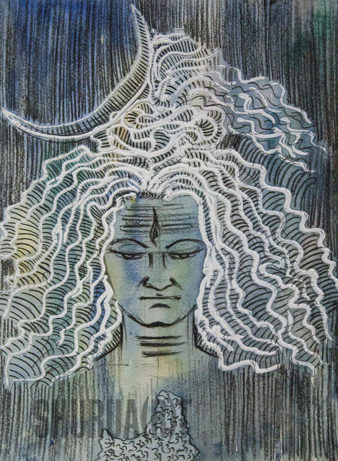 Painting of God Shiva