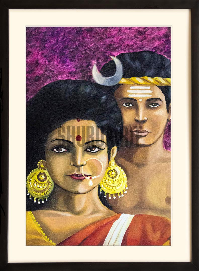Painting of a tribal couple