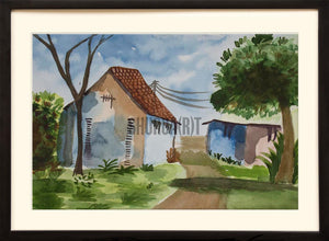 Painting of a village house