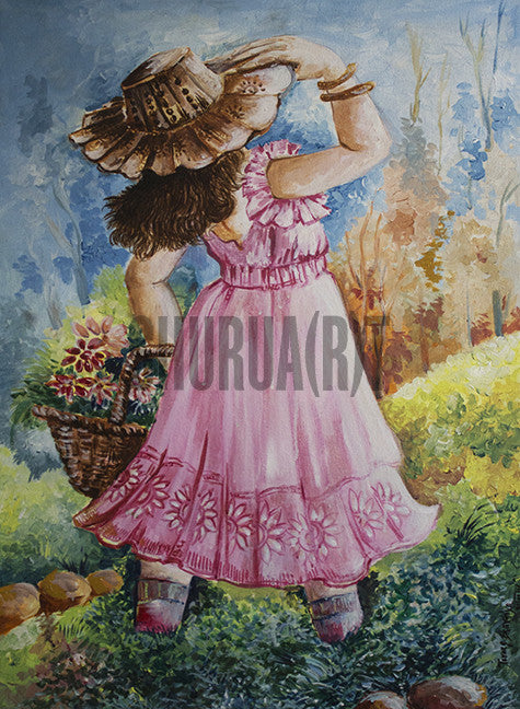 Original Painting of a Young Girl