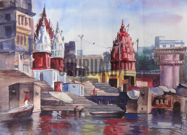 Painting of Dashashwamedh Ghat