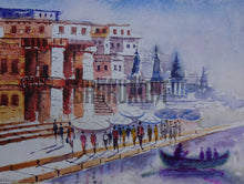 Load image into Gallery viewer, Painting of famous Varanasi Ghats