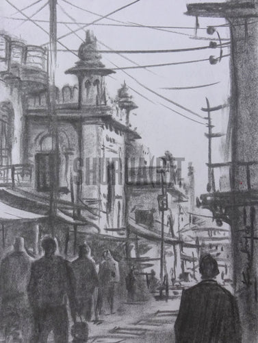 Sketch of narrow bylanes of Banaras