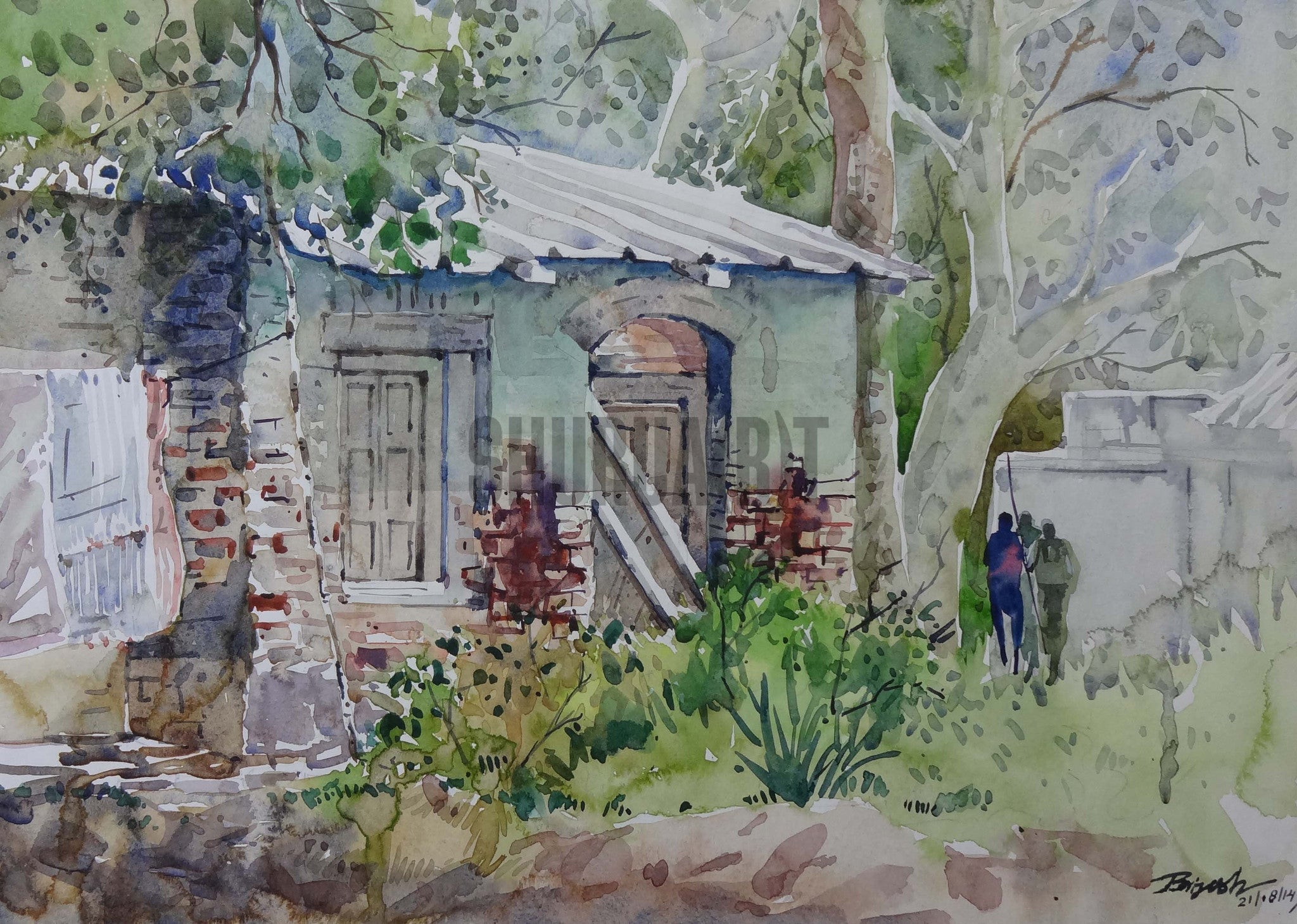 Painting of a Garden House