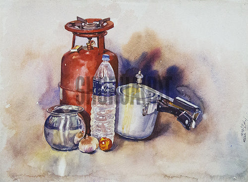 Still Life painting of Everyday Objects