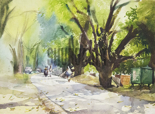 Painting of Banaras Hindu University Campus