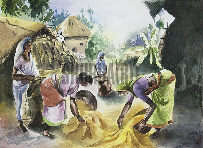 Women working in Village