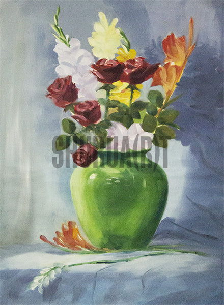 Painting of Flower Vase
