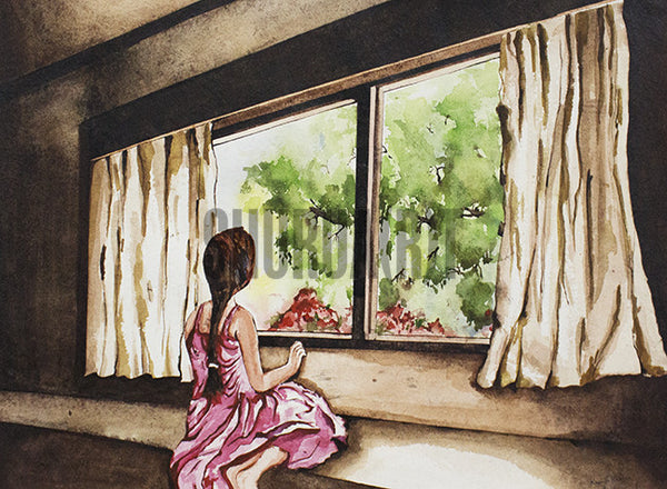 A Girl and the Window