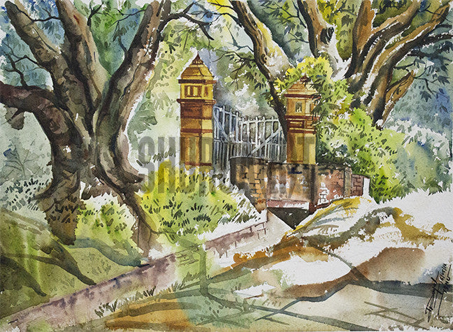 Painting of locations inside Banaras Hindu Univesity campus