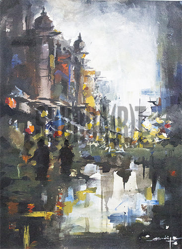 Painting of a Ghat in Benares