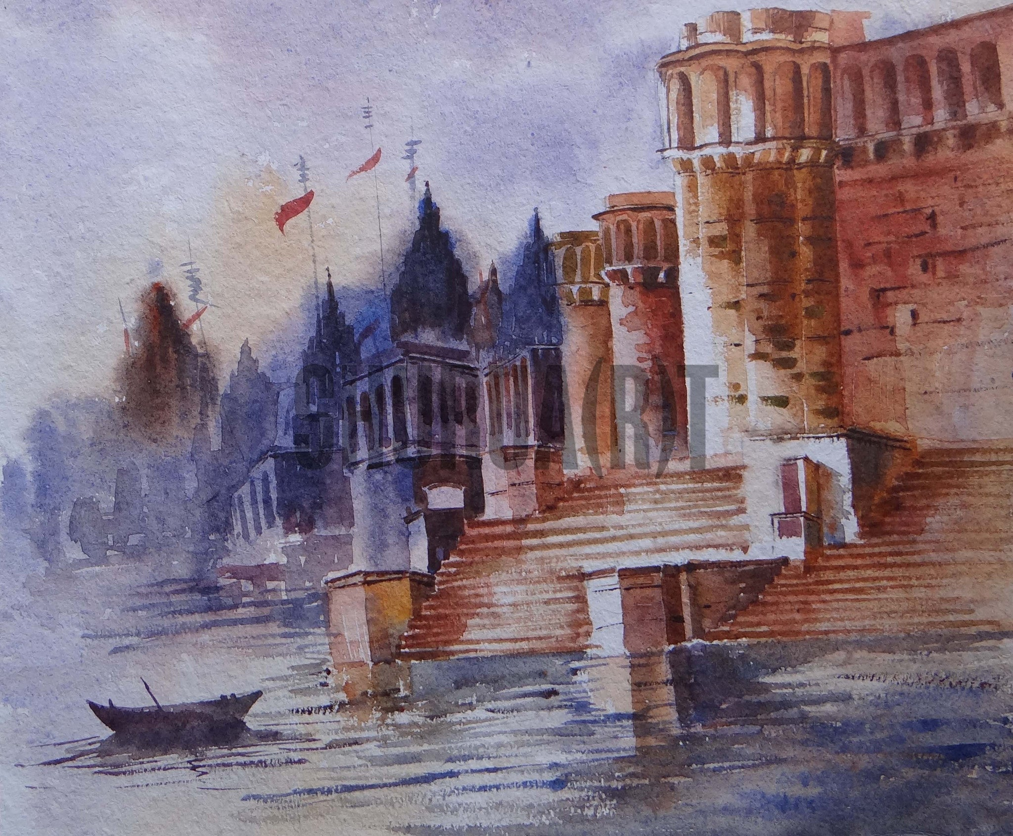 Painting of a Benares Ghat