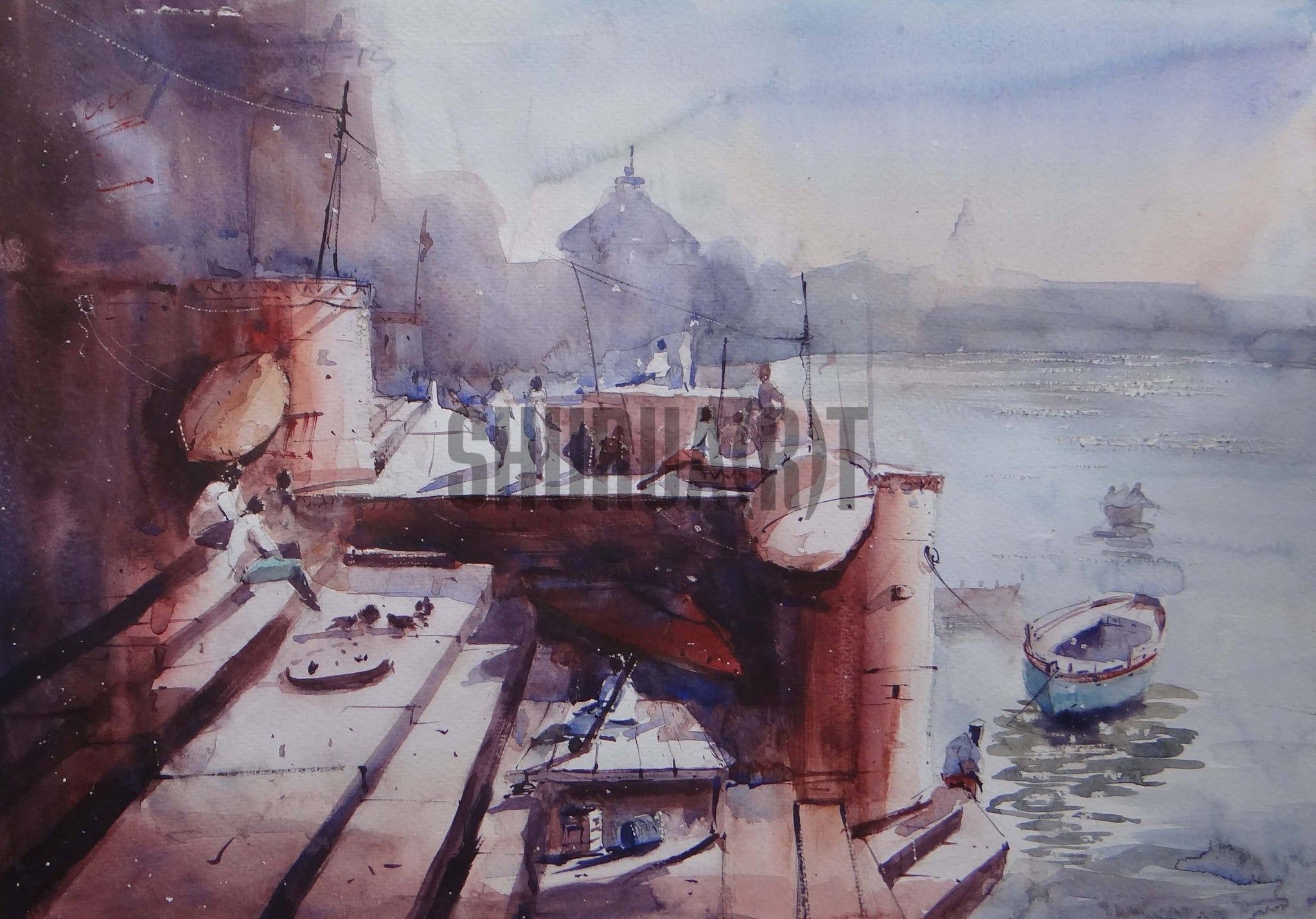 Painting of Ghats of Varanasi