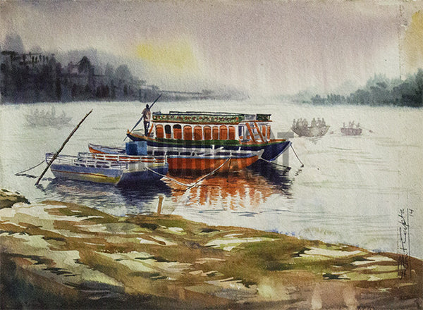 Morning boat ride on river Ganges