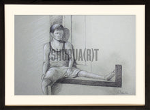 Load image into Gallery viewer, Boy sitting in a balcony