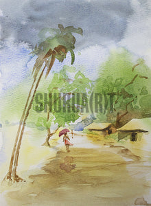 Painting of an Indian Village