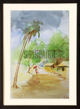 Load image into Gallery viewer, Painting of an Indian Village