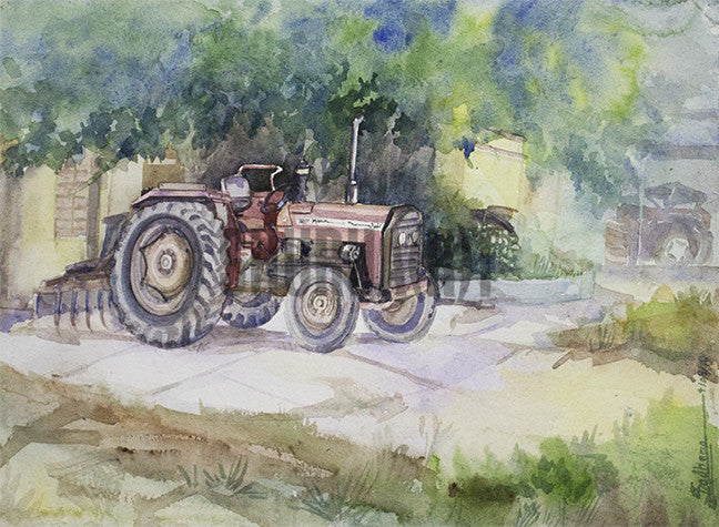 Tractor in a Farm House